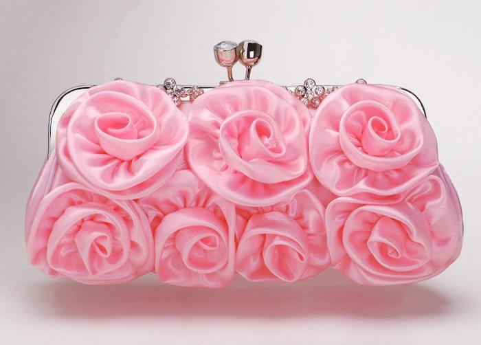 Клатч розовый.