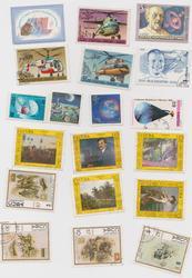 почтовые марки разных стран на различные темы