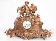 Старинные каминные часы Германия 19 век.
