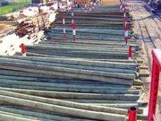 Столбы ЛЭП и связи(опоры) деревянные,  окоренные,  пропитанные