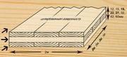 Деревянная плита  трехслойная из цельной древесины (ель, сосна)