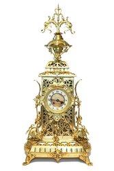 Большие бронзовые каминные часы Франция S.Marti 1860-1870г.
