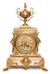 Антикварные часы из бронзы Франция середина 19 века