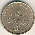 Турция,  100000 лир,  2000 год