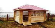 Строительство,  изготовление деревянных беседок