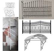 Ворота,  заборы,  беседки,  лестницы,  решетки оконные
