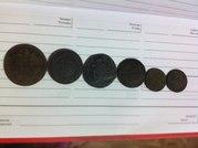 Монеты царской России Николай I,  Николай II и Екатерина II