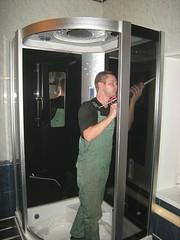 установка душевой кабины