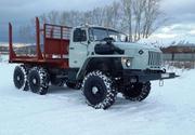 Лесовоз Урал 43204 с новой площадкой