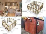 Строительство каркасных домов,  бытовок,  бань