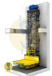 Мачтовый грузовой подъёмник (консольный)