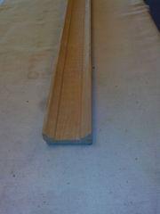 Рейка фигурная строганая,  деревянная цельная (сосна)