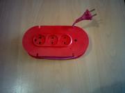 Удлинители электрические (переноски),  на 1-4 электророзетки