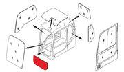Стекло лобовое нижнее (триплекс) 71Q6-02711 / 71Q6-02710 Hyundai R140-