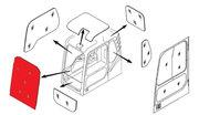 Стекло лобовое верхнее (триплекс) K1033880 DOOSAN / DAEWOO DX140-DX520